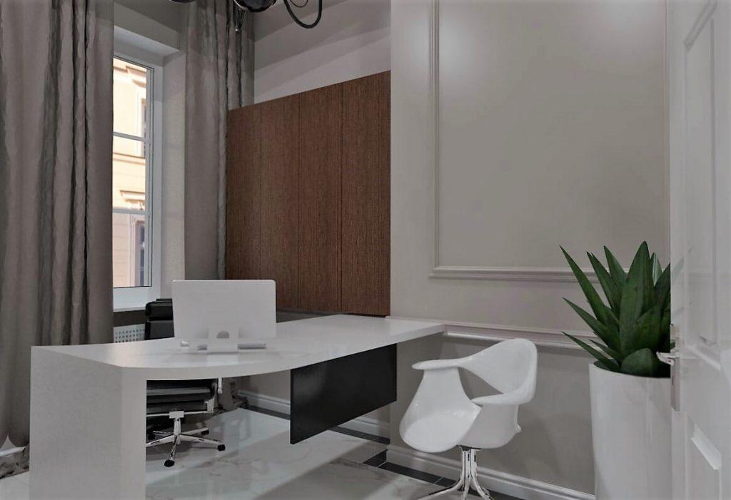 Projekt wnętrza gabinetu notariusza