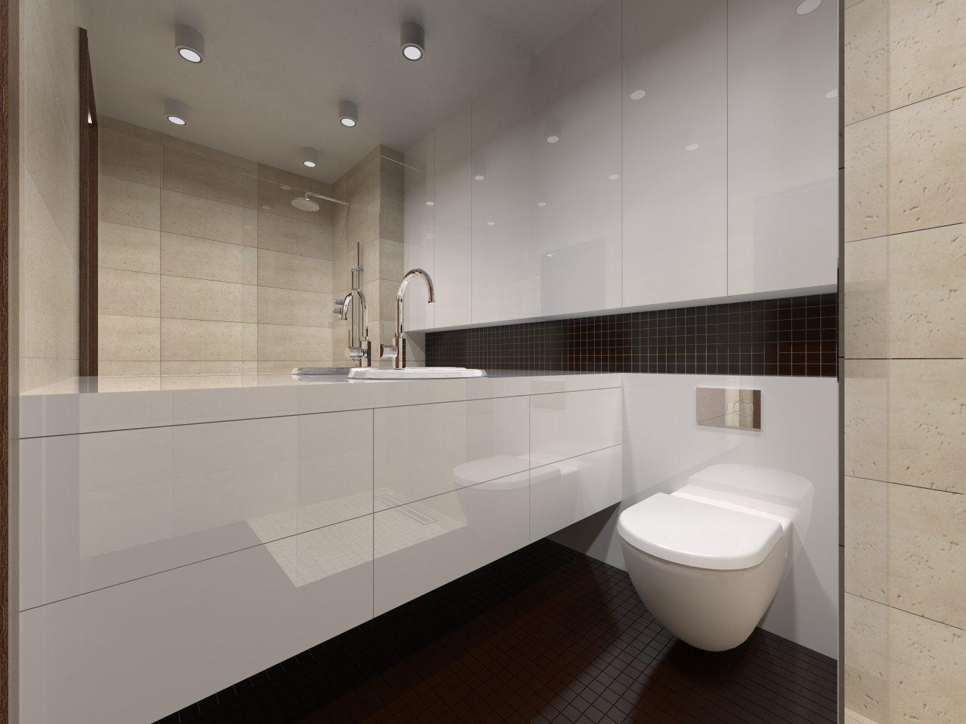 Projekt łazienki we Wrocławiu od studia novoART zajmującego się projektowaniem i aranżacją wnętrz