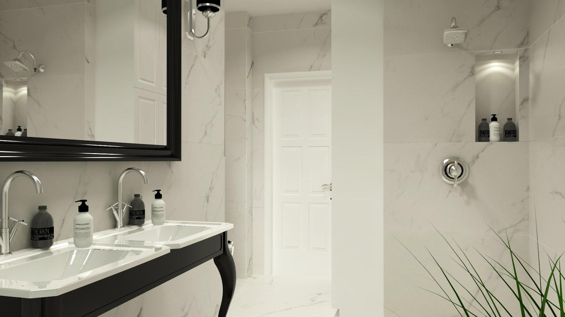 Projekt łazienki na poddaszu w Gorzowie
