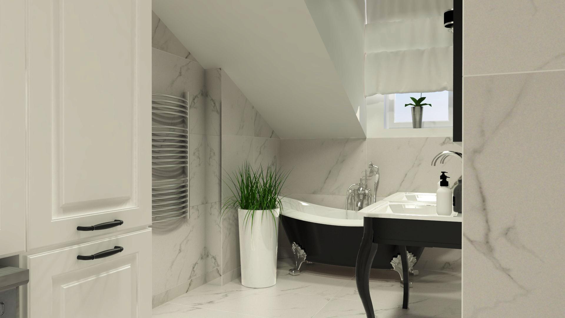 projekt łazienki na poddaszu Gorzów
