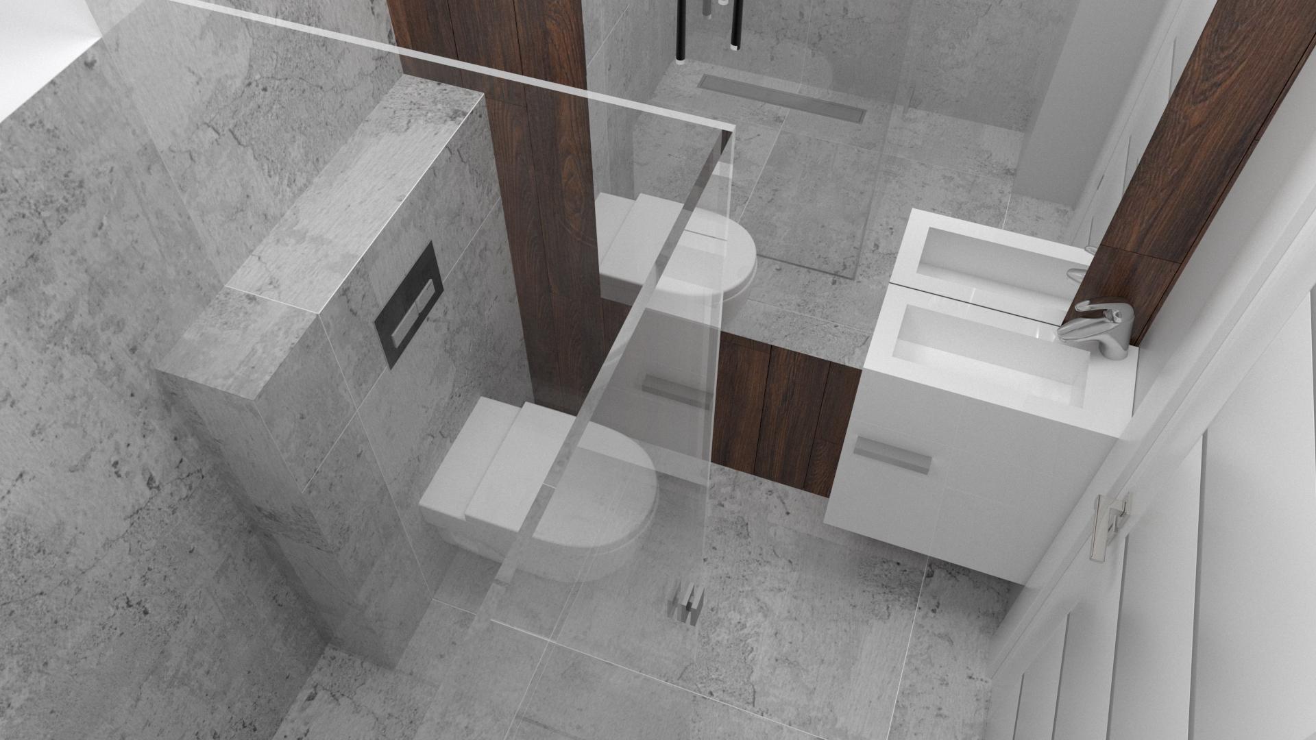 Projekt łazienka szara