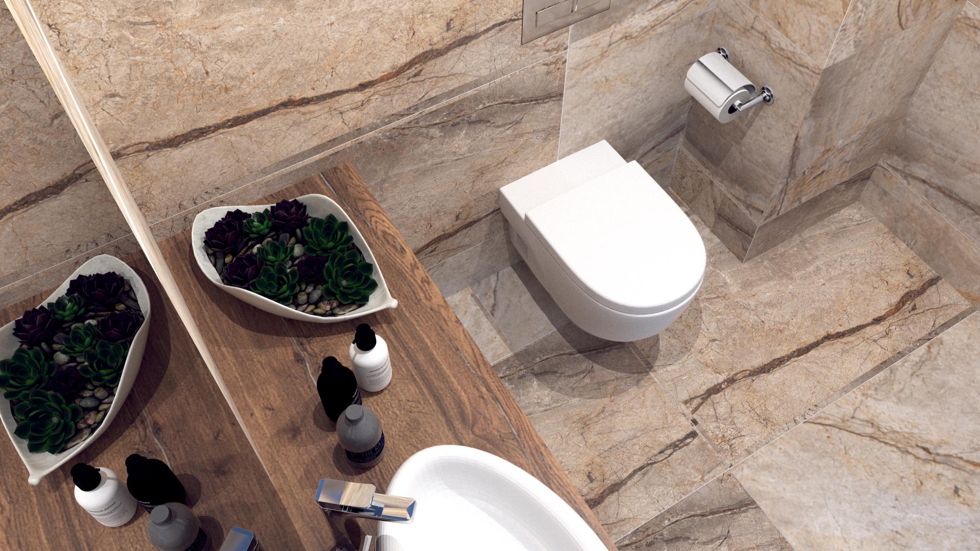 projekt małej łazienki