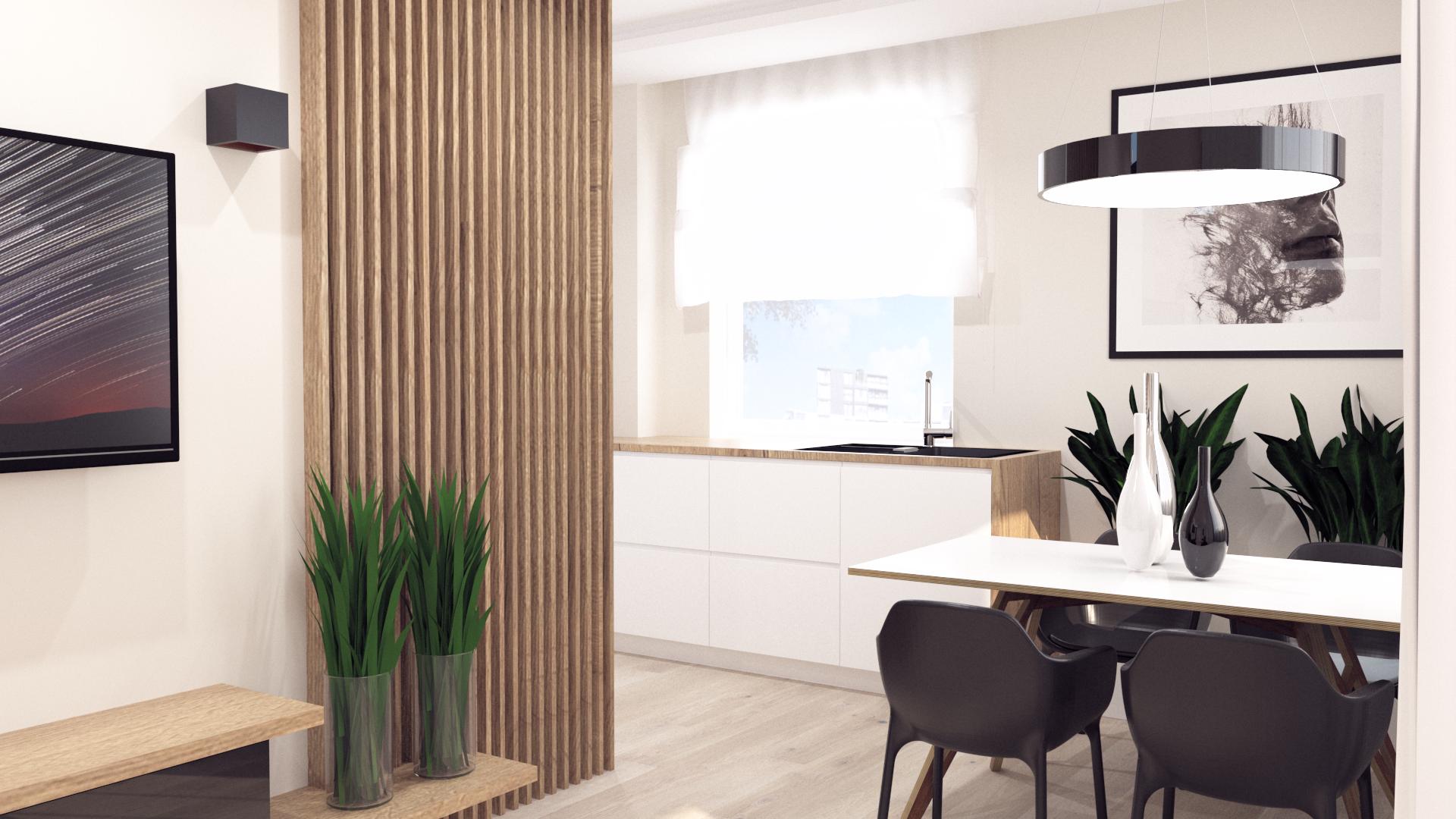 projekt małego apartamentu